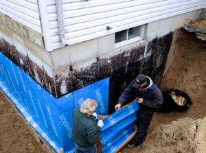 Waterproof membranes serving southern ontario superior - Interior basement waterproofing membrane ...