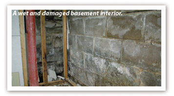 Damaged Basement Interior