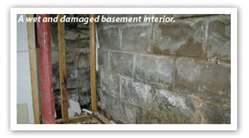 Damaged Basement Interior